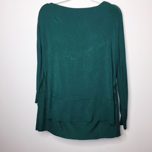 We the Free Green Off the Shoulder Blouse Small